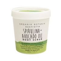 Organik Botanik 200GM TUB Body Scrub - SPIRULINA & AVOCADO OIL