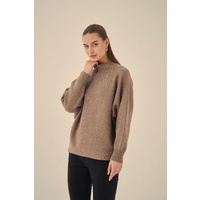 Tirelli-Horizontal Batwing Knit-Deep Taupe