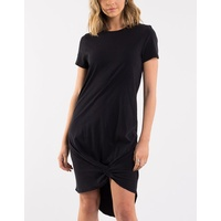 Silent Theory-Twisted Tee Dress-Black