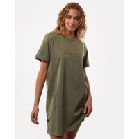All About Eve-Washed Tee Dress-Khaki
