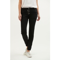 Italian Star Button Hero Jeans - Black