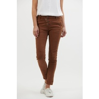 Italian Star Button Hero Jeans -Rust