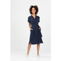 Brave+True-Arrival Shirt Dress-Navy
