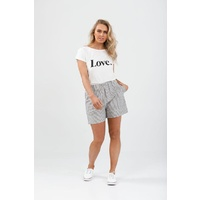 Brave+True-Broadway Shorts-Charcoal Stripe