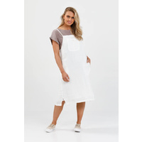 Brave+True-Yonder Pinafore-White