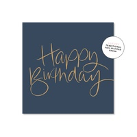 Just Smitten - Birthday Script Navy