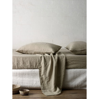 L & M Home Mondo Natural QB Sheet Set