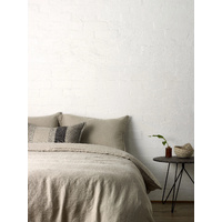 L & M Home Mondo Natural QB Duvet Cover Set