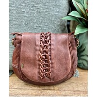 Art N' Vintage Prairie Crossbody Bag - Cognac